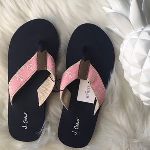 ⚓️J. Crew Factory Anchor Flip Flops